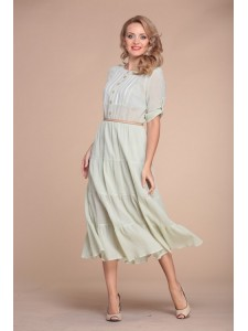 Юрс_ 15-496 зеленый_Платье